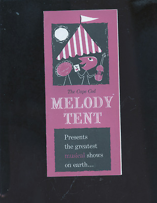 1950's Cape Cod Melody Tent ad brochure, travel MA, Hyannis