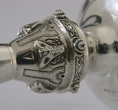 Solid Silver Celtic Beast Vase Birmingham 1965 English Arts & Crafts