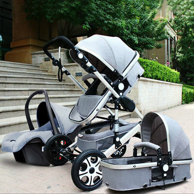Baby Stroller 3 in 1 with Car Seat For Newborns Folding Baby Carriage Prams G1