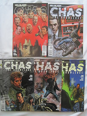 """HELLBLAZER Presents : """"CHAS : The KNOWLEDGE"""" :COMPLETE 5 ISSUE SERIES. 2008"""
