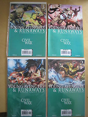 CIVIL WAR : YOUNG AVENGERS & RUNAWAYS : COMPLETE 4 ISSUE SERIES. Marvel.2006