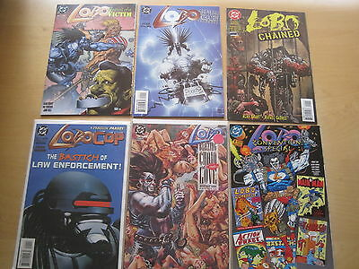 LOBO : BUNDLE of 6 ONE-SHOTS by GIFFEN, GRANT, O'NEILL, BISLEY etc.DC. 1990's