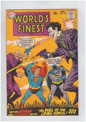 Worlds Finest Comics # 177  Duel of the Crime Kings !  grade 8.0 scarce book !