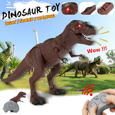 Walking Dinosaur Toy LED Light & Sound Lay Eggs Projection Real Movement Gifts