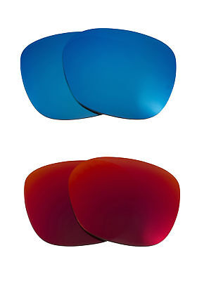 bbcd95aff70aa Best SEEK Replacement Lenses for Oakley Sunglasses GARAGE ROCK Red Blue  Mirror