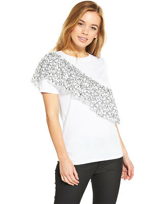V by Very Lace Frill T-Shirt