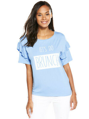 V by Very Frill Sleeve Slogan Top