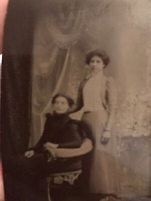 Vintage & Antique (pre-1940) Nice Antique Tin Type Photograph-lge-old Woman-victorian Wood Shadow Box Frame-inlay Moderate Price