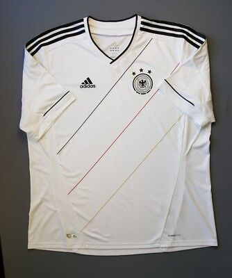 4.9 5 Germany soccer jersey 2012 2014 football home shirt size 2XL Adidas 9f2e9007f