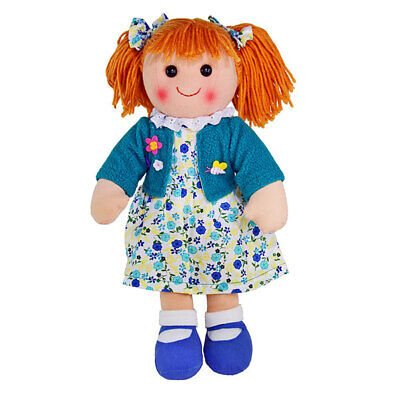 "Hopscotch Collectables Rag Doll Phoebe soft bodied ragdoll soft toy 14""/35cm NEW"