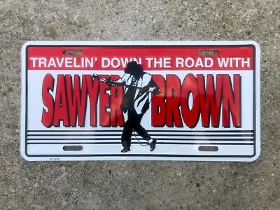 Vintage Embossed Sawyer Brown Country Music Band License Plate