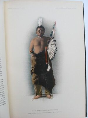 HAKO PAWNEE CEREMONY Native American Indians Songs 1904 B.A.E. 8 Colored Prints