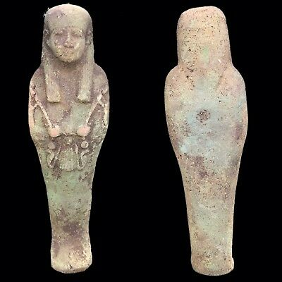 EGYPTIAN HIEROGLYPHIC SHABTI, LATE PERIOD 664 - 332 BC (11) 20 Cm Tall !!!!!