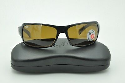 913e1a682f Ray Ban RB 4075 Sunglasses 601 58 Black Frame   Brown Polarized Lenses