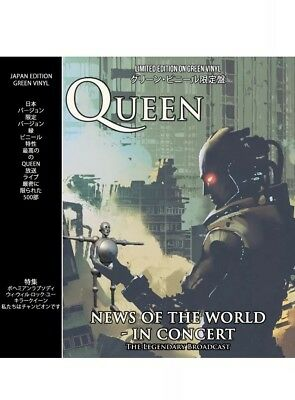 QUEEN News Of The World In Concert Limited Edition Green Brand New Vinyl LP