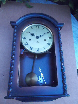 Vintage German Mauthe Westminster Chime Wall Clock Spares or Repair
