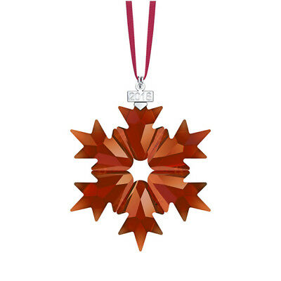 Swarovski Red Crystal 2018 Annual Edition Snowflake Cristmas Ornament 5460487