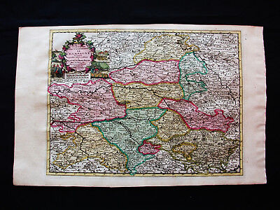 "1713 P. VANDER AA - ""amazing map"" of FRANCE, CHAMPAGNE, ARDENNES, AUBE, TROYES"