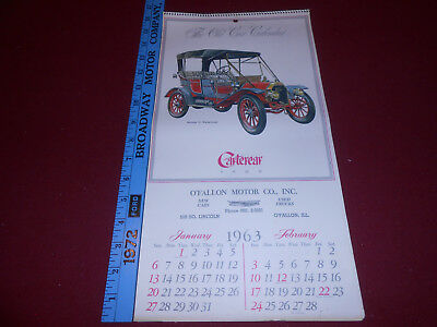 1963 CHEVROLET ILLINOIS DEALER WALL CALENDAR Same as 2019 FORD OVERLAND THOMAS