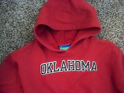 Champion Oklahoma Hoodie Youth Size Small 6-7 Red