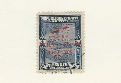 Haiti, Postage Stamp, #C4A Used, 1933 Mapm Airplane, Boyd-Lyon, JFZ