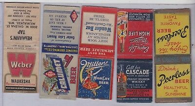 16 BEER Matchbook Matchcover