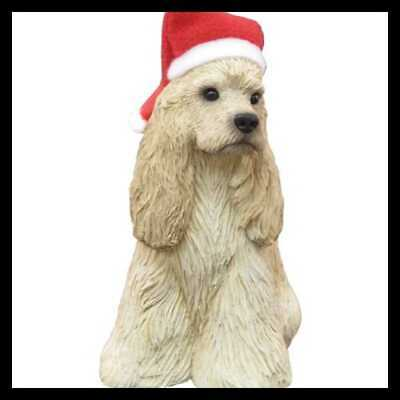 Sandicast Buff Cocker Spaniel W Santa Hat Christmas Ornament Spaniels Home