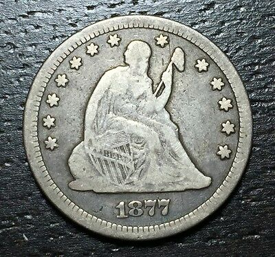 1877 CC Seated Liberty Quarter  --  MAKE US AN OFFER!  #W3389 ZXCV