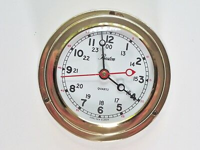 Boston Chelsea Brass Quartz Clock Made in West Germany *For Repair/Not Working