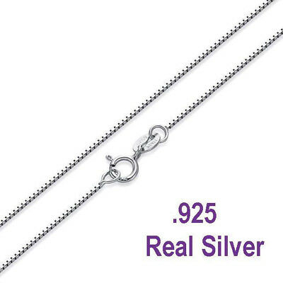 .925 Sterling Silver .8mm Box Chain Necklace for Pendants -- Wholesale Prices