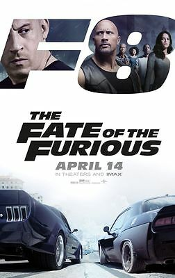 Fate of the Furious / Fast 8 - original DS movie poster 27x40 D/S 2017 Advance B