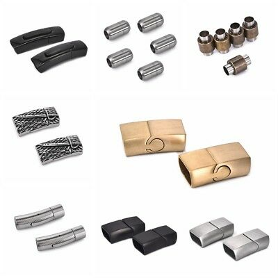 Vintage Stainless Steel Magnet Buckle Connector For DIY Leather Bracelet Lot