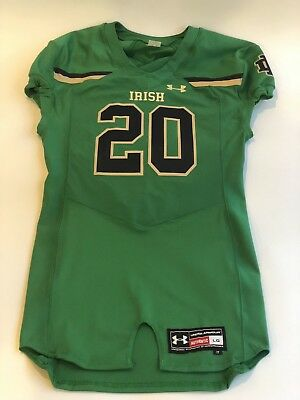 new styles 1da52 491c8 NCAA NOTRE DAME Authentic Under Armour Mens Large Game Day Football Jersey