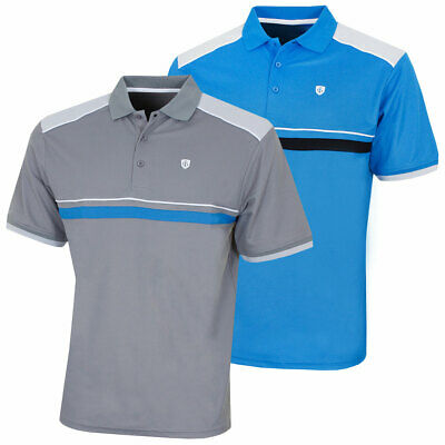 Island Green Mens Moisture Wicking Quick Drying Golf Polo 48% OFF RRP