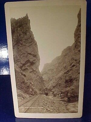 Orig Late 19th Wm H.JACKSON Cabinet Card PHOTO-The ROYAL GORGE Grand Canyon
