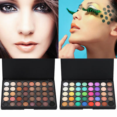 Cosmetic Matte Eyeshadow Cream Eye Shadow Makeup Palette Shimmer Set 40 Color.