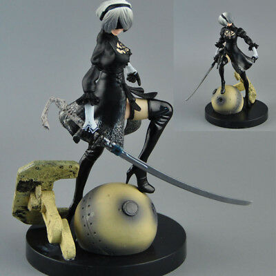 PS4 PC Nier Automata 2B YoRHa No. 2 Neal NieR 6'' Action Figure Statue Toy nobox