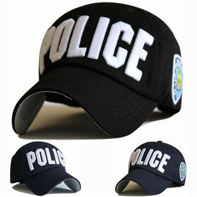 6981f6afbe5 Unisex adjustable Sports Baseball Hats Leisure sun embroidery cap Police  hats