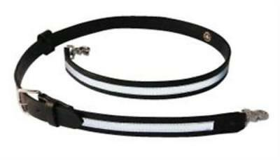 "Boston Leather 6543RXL-1 Black XL Reflective 1-1/4"" Firefighters Radio Strap"