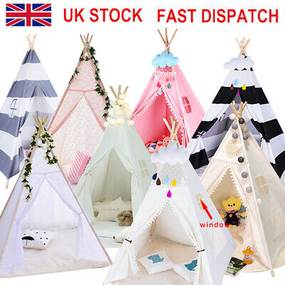 New Kids Teepee wigwam childrens play tent childs garden indoor toy 5' Canvas aO