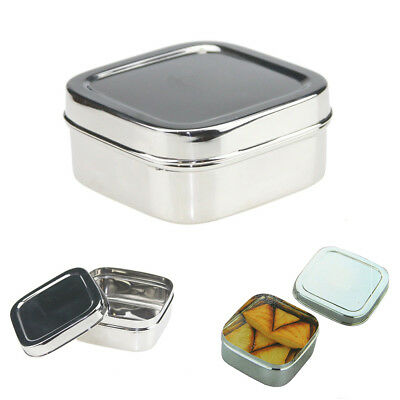 350ml Square Stainless Steel Small Lunch Box 1 Layer Eco-Friendly Food Container