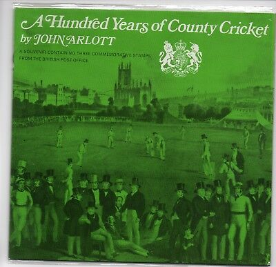 GB 1973 100 Years County Cricket Souvenir Presentation Pack Stamps Free postage!