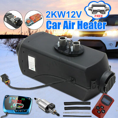 12V Diesel Air Heater 2KW Fuel Tank LCD Monitor Remote Truck Boat Car
