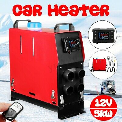 Diesel Air Heater 5KW 12V All In 1 LCD Monitor For Truck Motorhome Boat Trailer