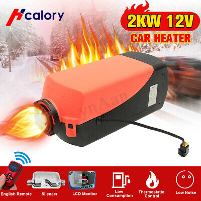 2KW 12V Diesel Air Heater LCD Switch Remote Fuel Tank For Truck Boat Car