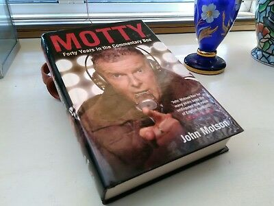 Motty Forty Years in the commentary Box,John Motson/Signed copy.