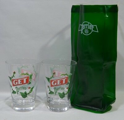 PERRIER GET 27 Menthe 2 verres modèle B + sac  NEUF