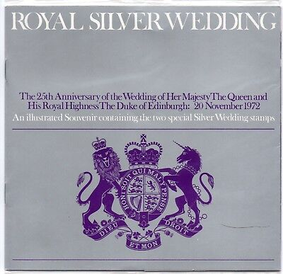 GB 1972 Royal Silver Wedding Souvenir Presentation Pack Stamps VGC Free postage!