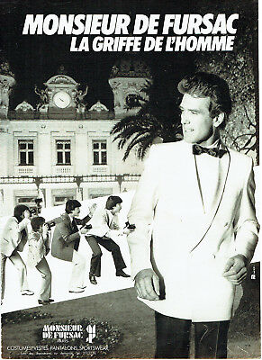 Publicité Advertising 1988 2 Pages Pret à Porter Homme Monsieur De Fursac