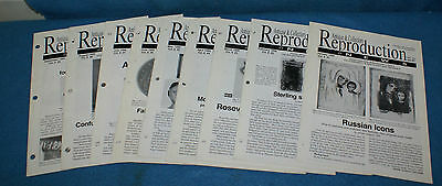 Antiques & Collectors Reproduction News January thru September 1999 9 Issues